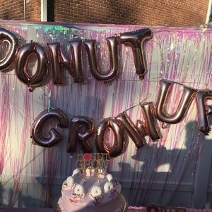 Other - BRAND NEW Donut Grow Up Balloon Letters